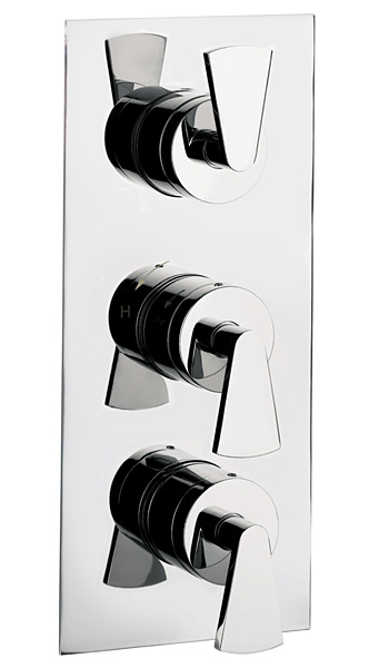 Large Image of Crosswater Essence Thermostatic Shower Valve With 3 Way Diverter Portrait