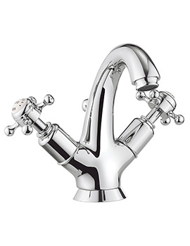 Belgravia Crosshead Chrome Highneck Monobloc Basin Mixer Tap