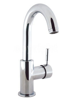 Design Side Lever Monobloc Basin Mixer Tap With Waste
