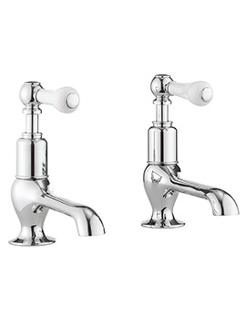 Belgravia Lever Chrome Pair Of Long Nose Basin Taps