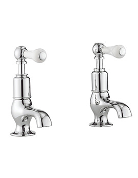 Belgravia Lever Chrome Pair Of Cloakroom Basin Taps