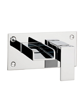 Water Square Wall Mounted 2 Hole Basin Mixer Tap