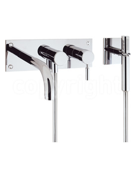 Design Wall Mounted 3 Hole Set Bath Shower Mixer Tap with Kit