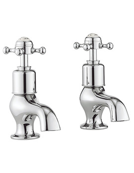 Belgravia Crosshead Chrome Pair Of Bath Pillar Taps