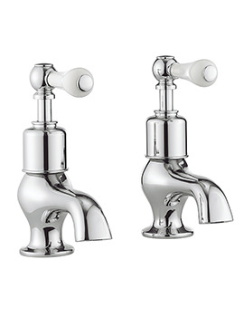 Belgravia Lever Chrome Pair Of Bath Pillar Taps
