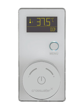 Crosswater Elite Digital Shower Processor And White Controller With Pump