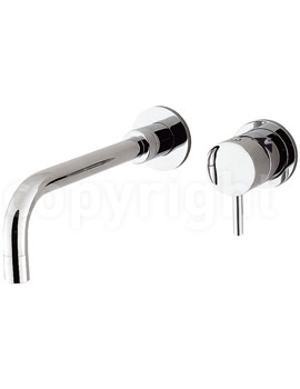 Kai Lever Wall Mounted 2 Hole Basin Mixer Tap Set