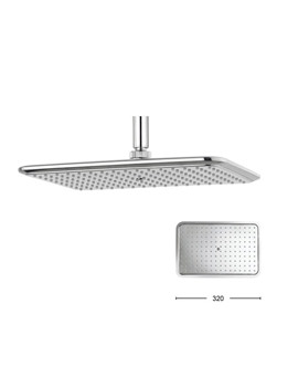 Crosswater Essence 320x210mm Rectangular Shower Head - FH321C