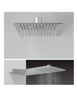 Glide 220 x 500mm Rectangular Shower Head