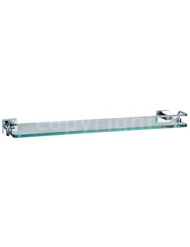 Zeya 500mm Glass Shelf With Towel Rail - ZE030C