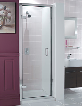 Classic Frame-less Hinged Shower Door 900 x 1950mm