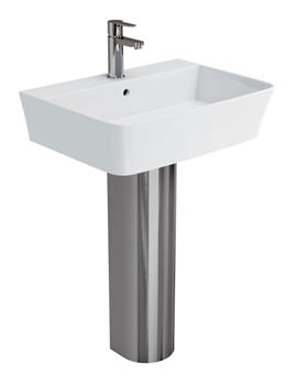 Related Britton Fine S40 Basin 600mm With Stainless Steel Full Pedestal