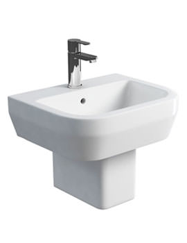 Related Britton Curve S30 Basin 500mm With Square Fronted Semi Pedestal