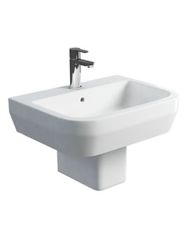Related Britton Curve S30 Basin 600mm With Square Fronted Semi Pedestal