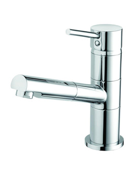 Bristan Almond Sink Mixer Tap With Pull Out Hose - ALM PULLSNK C