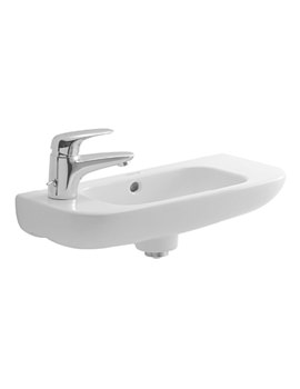 Duravit D-Code 500 x 220mm 1 Left Tap Hole Basin - 07065000092