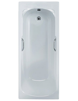Admiral Idealform Plus Bath With Handgrips 1670 x 690mm
