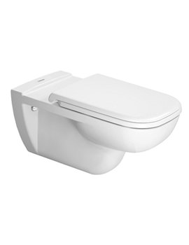 Duravit D-Code White 360 x 700mm Wall Mounted Toilet - 22280900002