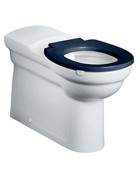 Contour Raised Height Back To Wall WC Pan White