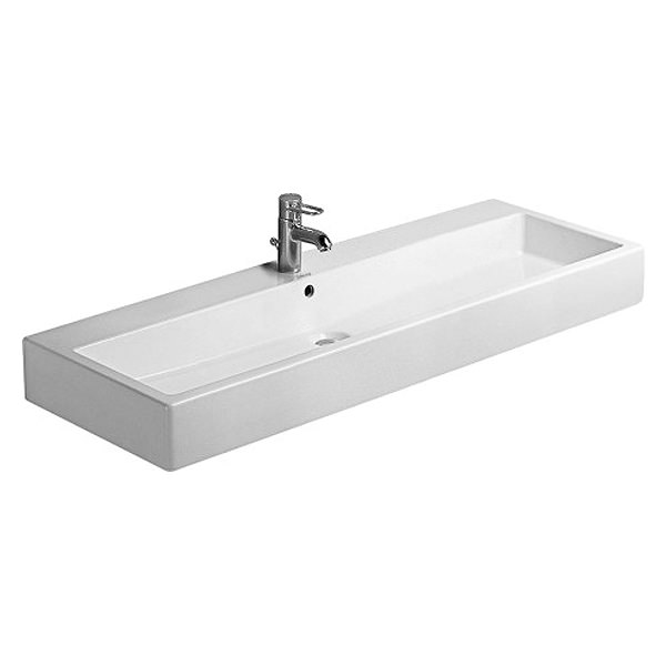 Large Image of Duravit Vero White 1200 x 470mm 1 Tap Hole Basin - 0454120000