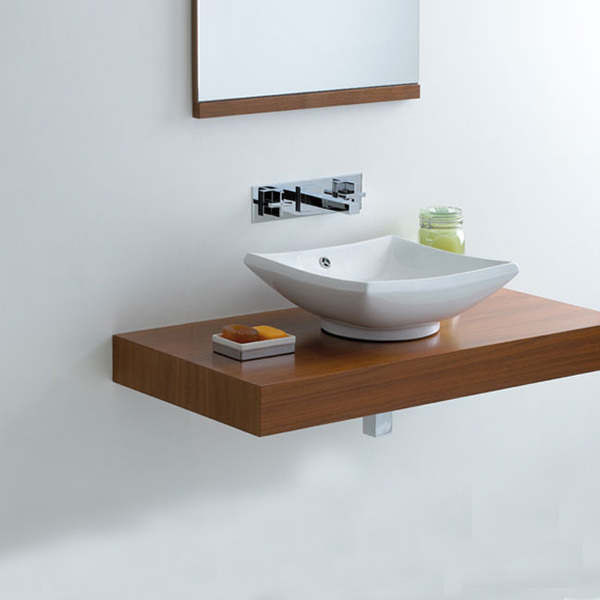 Large Image of Phoenix Counter Top Square Shape Wash Basin - VB011
