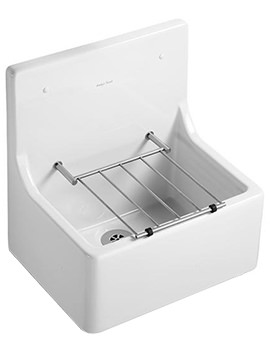 Related Armitage Shanks Alder Cleaners Sink With High Splashback And Grating