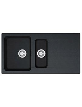 Orion OID 651 Tectonite Carbon Black 1.5 Bowl Kitchen Inset Sink