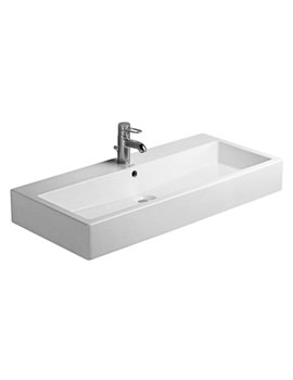 Related Duravit Vero White 1000mm 1 Tap Hole Grinded Washbasin - 0454100027