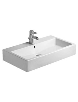 Related Duravit Vero White 800mm 1 Tap Hole Grinded Washbasin - 0454800027