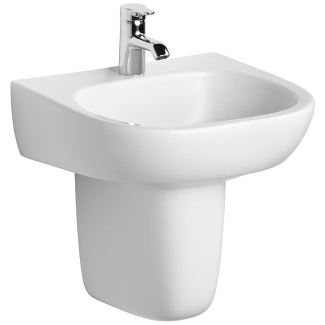 Large Image of Ideal Standard Jasper Morrison 500mm Basin With Semi Pedestal