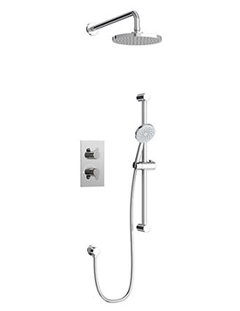 Related Britton Concealed Dual Outlet Thermostatic Shower Valve With Kit