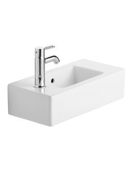 Vero White Alpin 500 x 250mm Handrinse Washbasin - 0703500000