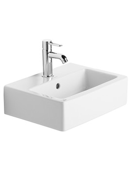 Vero White 450 x 350mm 1 Tap Hole Handrinse Basin - 0704450000