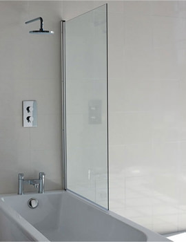 Britton Cleargreen Single Panel Hinged Bathscreen 850 x 1450mm