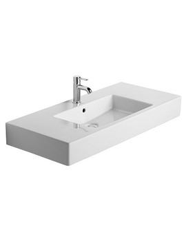 Image of Duravit Vero 1050 x 490mm 1 Tap Hole Furniture Basin - 0329100000