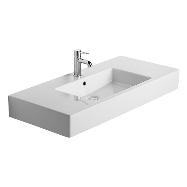Large Image of Duravit Vero 1050 x 490mm 1 Tap Hole Furniture Basin - 0329100000