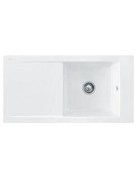 Franke Aspen ANK 611 Ceramic White 1.0 Bowl Inset Kitchen Sink