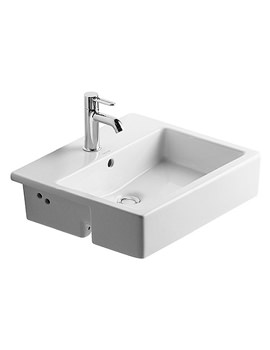Vero 550 x 470mm 1 Tap Hole Semi Recessed Basin - 0314550000