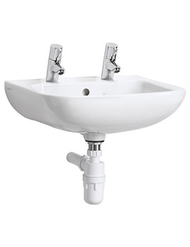 Portman 21 40cm Wall Hung 1 TH Basin With Overflow