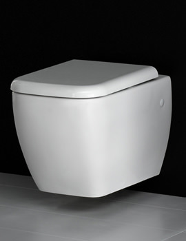 RAK Metropolitan Wall Hung WC Pan With Soft-Close Seat 525mm