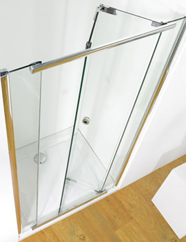 Infinite 900mm Bi-Fold Shower Door With Tray And Waste