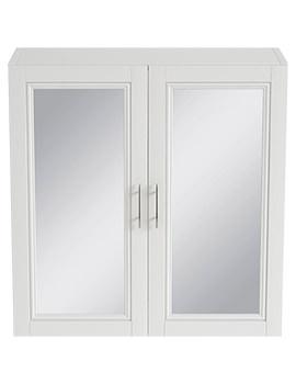 Caversham White Ash 640mm Mirror Wall Cabinet - KWA51