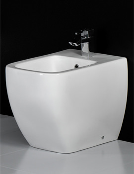 Metropolitan 1 Tap Hole Back To Wall Bidet 525mm - METBID