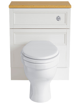 Related Heritage Caversham White Ash 640mm Back-To-Wall WC Unit - KWA43