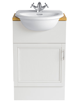 Carversham White Ash 500mm Single Door Furniture Vanity Unit