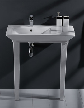 Opulence His Basin With Click Clack Waste And Legs 800mm White