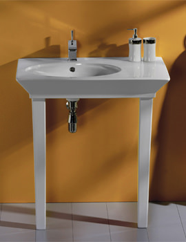 Opulence Hers Basin With Click Clack Waste And Legs 800mm White