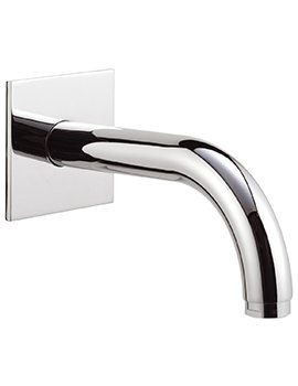 160mm Wall Mounted Spout With Square Plate