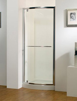 Original 900mm Silver Bowed Pivot Door With Tray And Waste