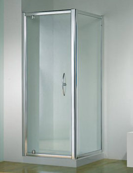 Original 1000mm Silver Straight Pivot Door With Tray And Waste